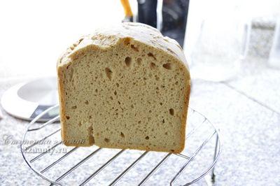 Хлеб выпекался в хлебопечке панасоник, на ржаной закваске с пшеничной мукой высшего сорта