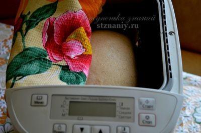 Колобок в хлебопечке Panasonic SD-2501 вырос, прошло 3 часа